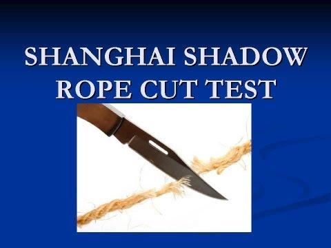 COLD STEEL SHANGHAI SHADOW LIGHT ROPE CUT TEST