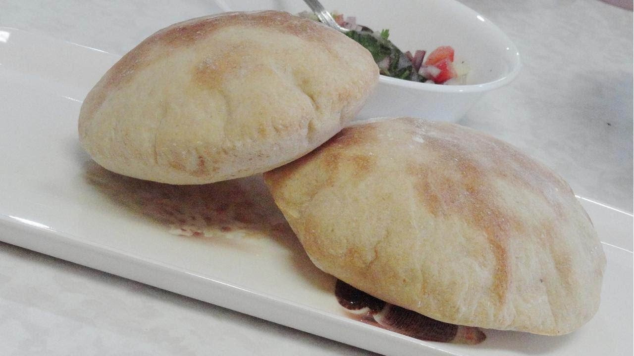 homemade pita bread and pita pockets - video recipebhavna - youtube