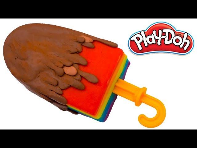 Play Doh Rainbow Icecream | Clay Modeling of Chocobar Ice cream |
