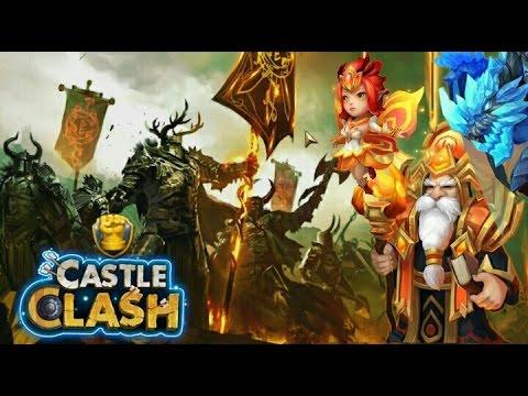 Castle Clash Guild Wars Attacks! Different Lineups!