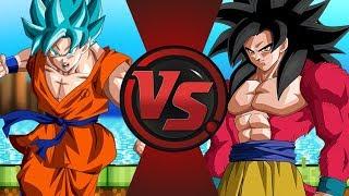 Super Saiyan Blue vs Super Saiyan 4! (Dragon Ball Super vs Dragon Ball GT)