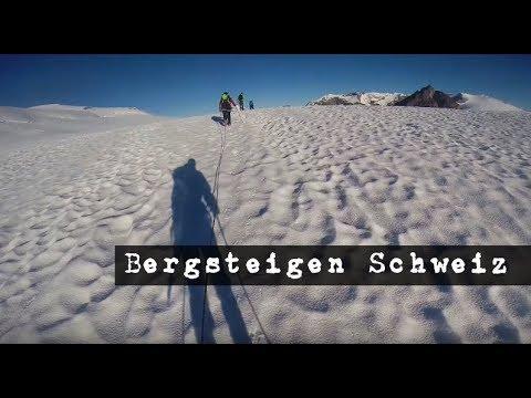 Eine Woche Schweizer Berge / Klettern / Gletscher Wanderung / Training / Tour in den Walliser Alpen