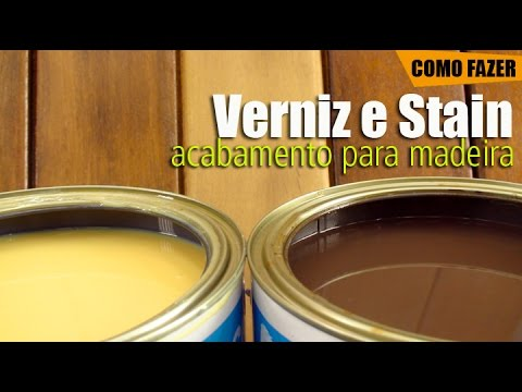 Verniz e Stain: Acabamento para madeira #DIY • Oficina de Casa