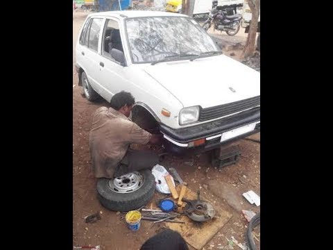 MARUTI SUZUKI 800 || CAR SUSPENSION REPLACED IN 10 MINUTES ||