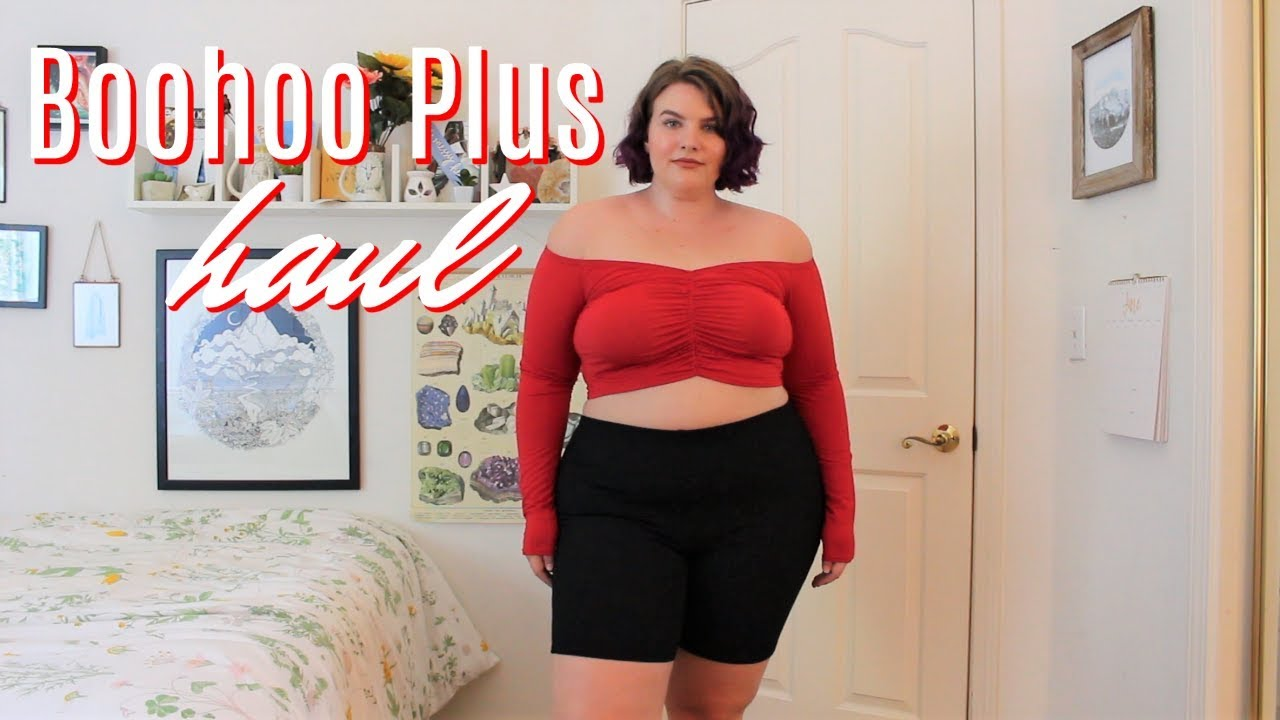 82847432cb2 boohoo plus try on haul - YouTube