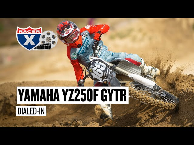 2020 Yamaha YZ250F GYTR Dialed In | Motocross Testing | Racer X Films