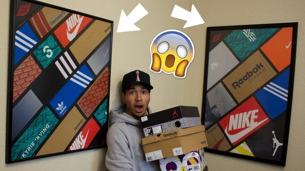 Here's How You Can Turn Your Shoe Boxes into Nice Wall Art