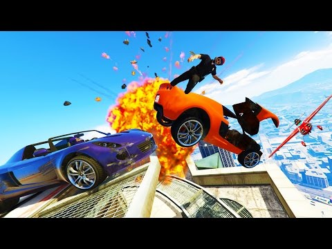 DEMOLITION DERBY w/ Swiftor and Typical Gamer (GTA 5 Funny Moments)