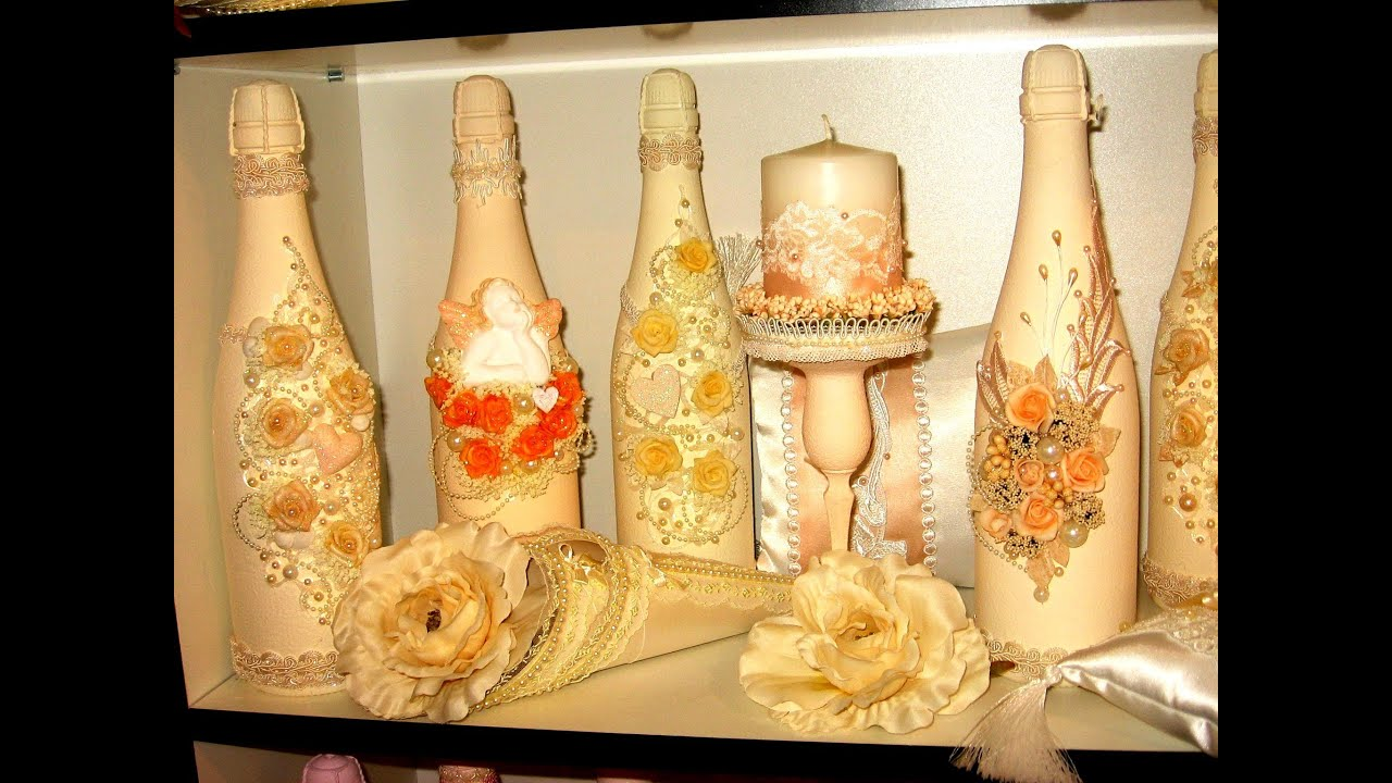 Champagne Bottle Decorations For Weddings. Many Weddings