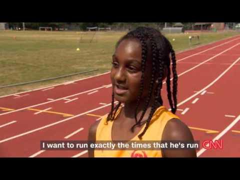 Video: Aspiring child runners look up to Usain Bolt