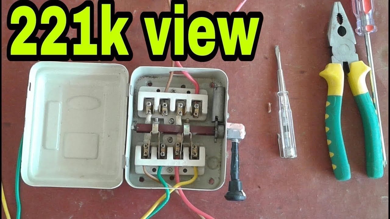 wiring diagram switch double pole light how to connect changeover urdu &hindi - youtube