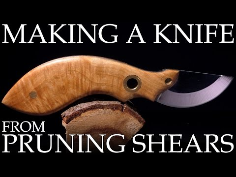 Making A Knife From Pruning Shears