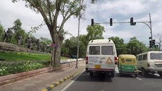 Driving in Delhi 4K (Chanakyapuri) - India