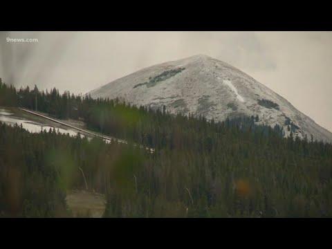 Colorado's Mountain Peaks Receive Dusting Of September Snow