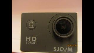 распаковка, малый обзор и тест экшен камеры SJCAM-4000