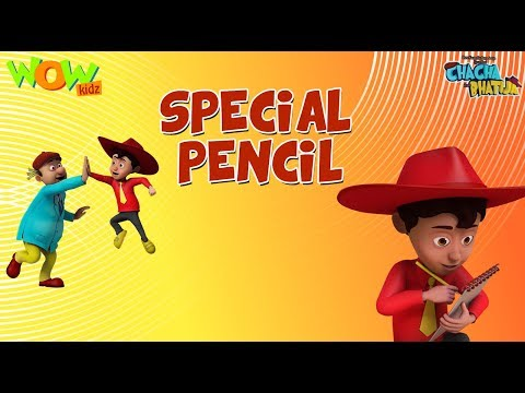Special pencil - Chacha Bhatija - 3D Animation Cartoon for Kids - As seen on Hungama