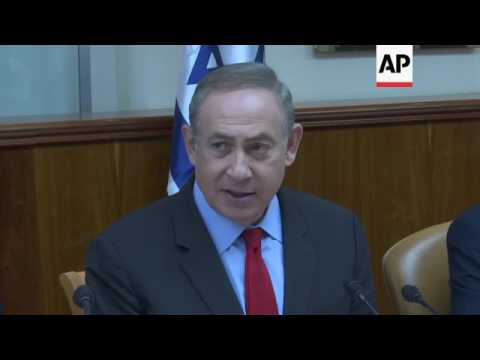 Netanyahu gathers cabinet ahead of China visit
