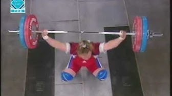 Weightlifting.European Championships.2002.Women. 75+ kg.Khomitch & Shaymardanova.mpg
