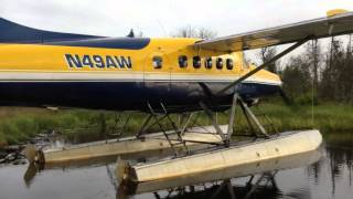 Insane Alaska Backcountry Float Plane Landing