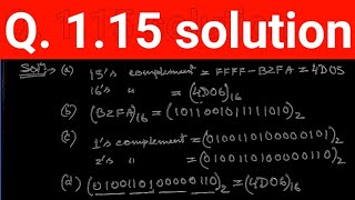 Q. 1.15: Find the 9's and the 10's complement of the following decimal numbers: (a) 52,784,630