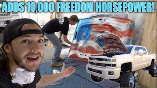 CUSTOM 'MERICA TRUCK HOOD PAINT JOB!