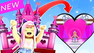BUYING A HUGE PINK CASTLE IN ROBLOX!