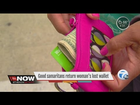 Good samaritans return woman's lost wallet
