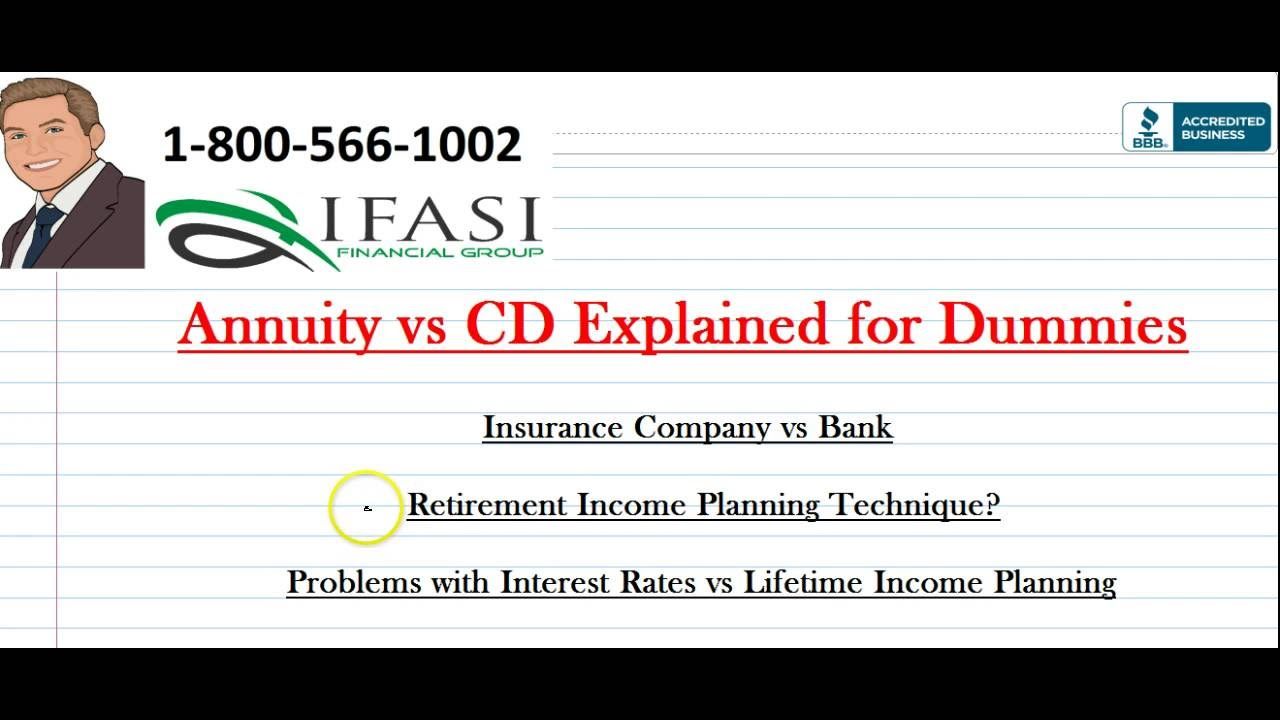 Annuity vs cd annuity vs cd explained for dummies youtube annuity vs cd annuity vs cd explained for dummies 1betcityfo Image collections
