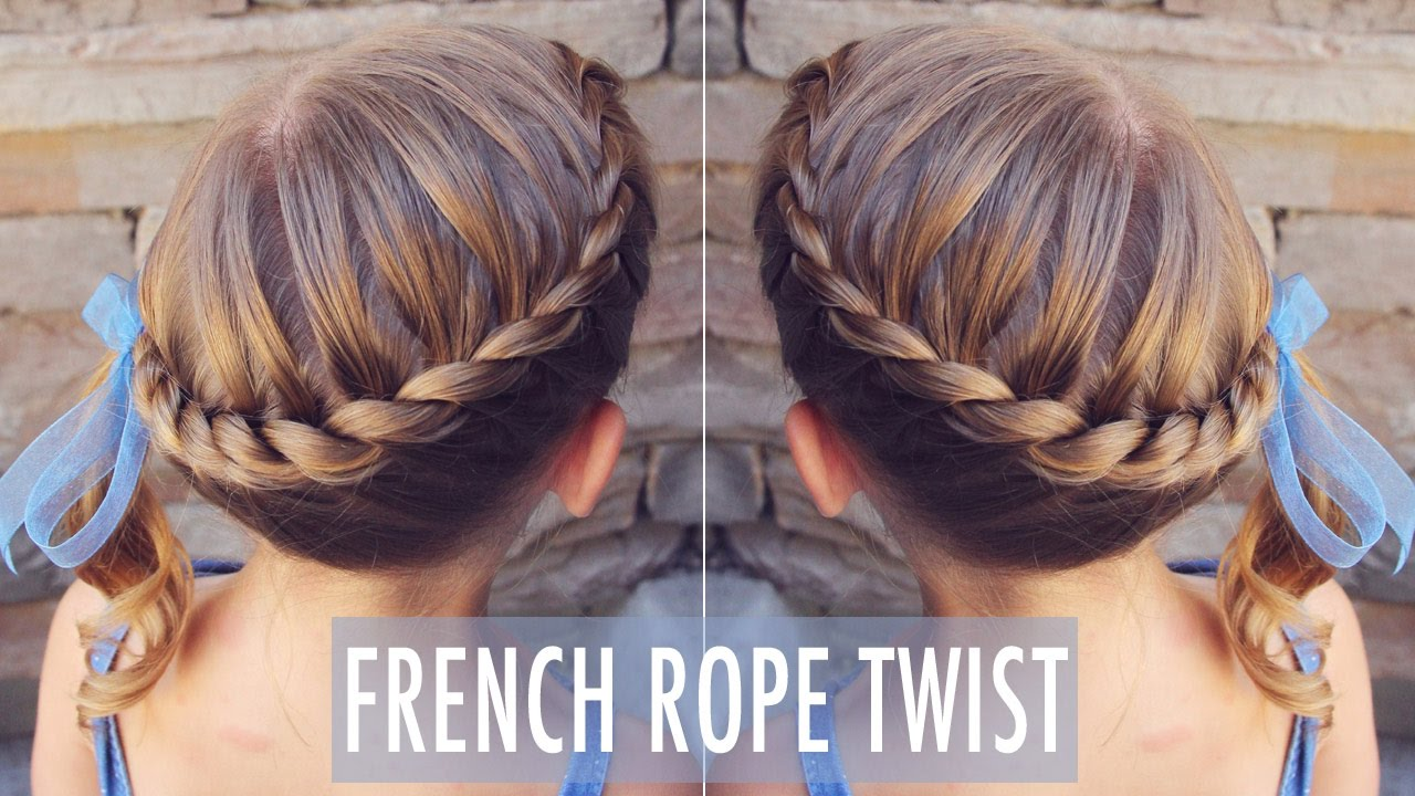French Rope Twist My 8 Year Old Can Do This Cute Hairstyle And So