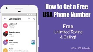 How to Get a Free USA Phone Number(Online Number)