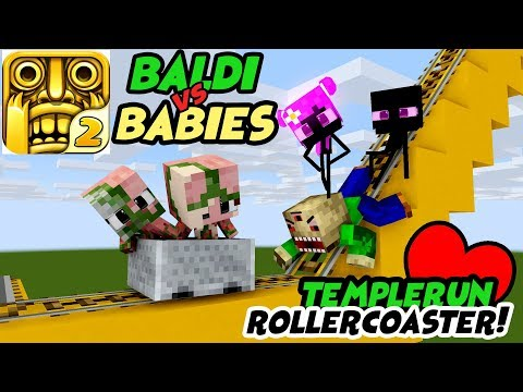 download MONSTER SCHOOL : FUNNY ROLLER COASTER TEMPLERUN WITH BABY MONSTER - Minecraft Animation