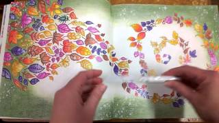 Colouring Book Enchanted Forest  Walk through with tips and coloured pages.