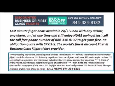 Last Minute First and Business Class Discount Flight Deals - Open 24/7