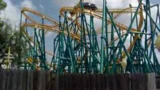 Six Flags Fiesta Texas Music Video Roller Coasters Rapids Ride Log Flume
