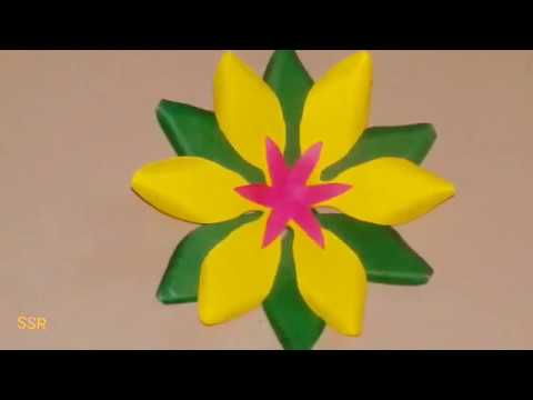 DIY craft - paper flower craft - How to make paper flower - easy and simple flower craft