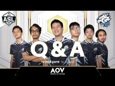 Q N A Dengan Sang Juara EVOS.AOV - Garena AOV (Arena Of Valor)