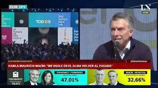 Conferencia de Macri tras la fuerte derrota en las PASO ante Fernández-Fernández