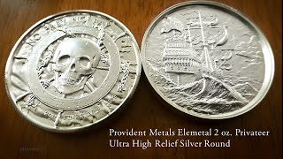 Privateer Ultra High Relief Silver Round