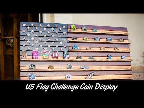 US Flag Challenge Coin Display