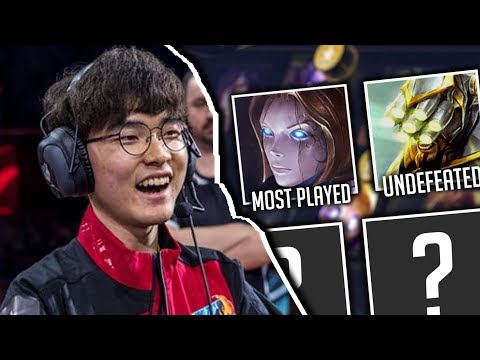 Every Champion FAKER Has Picked In Pro League of Legends