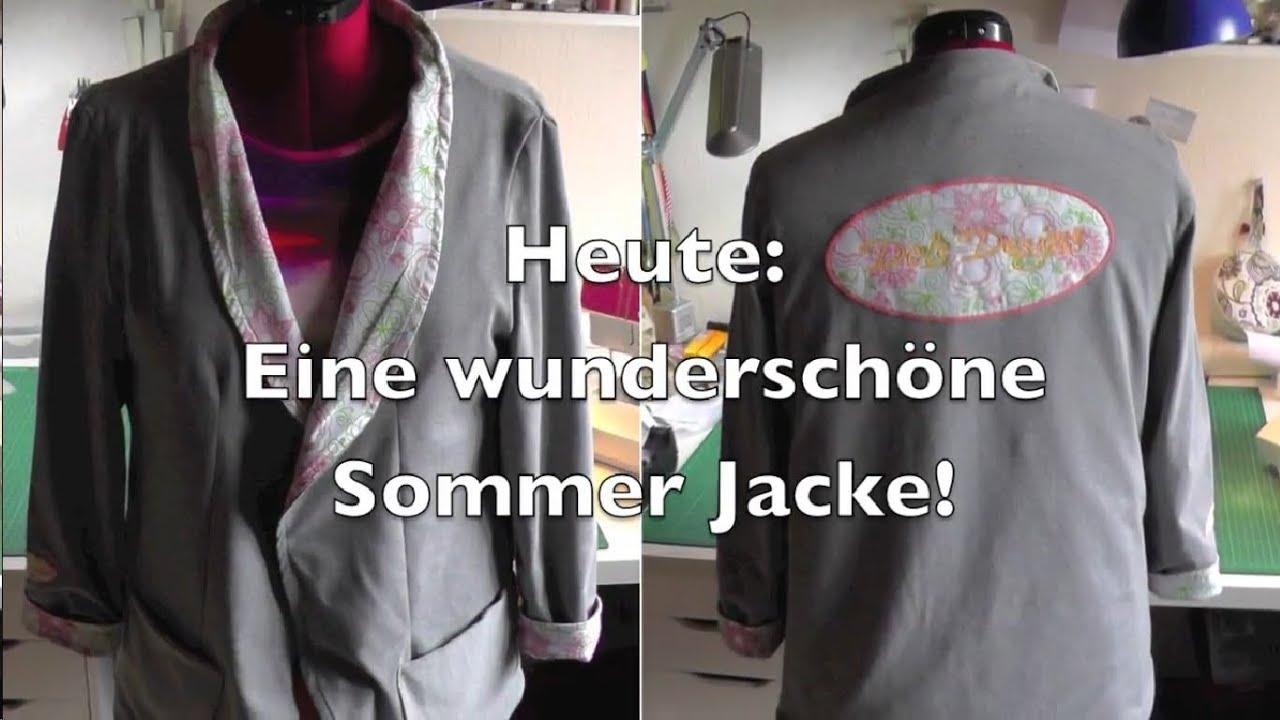 SOMMER JACKE SELBER NÄHEN | DIY | Nähen für Anfänger | Tutorial ...