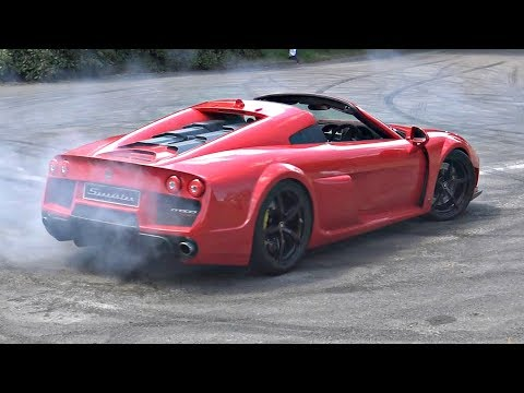 Noble M600 Speedster Twin Turbo V8 with Anti-Lag?!? - INSANE Pops & Bangs!