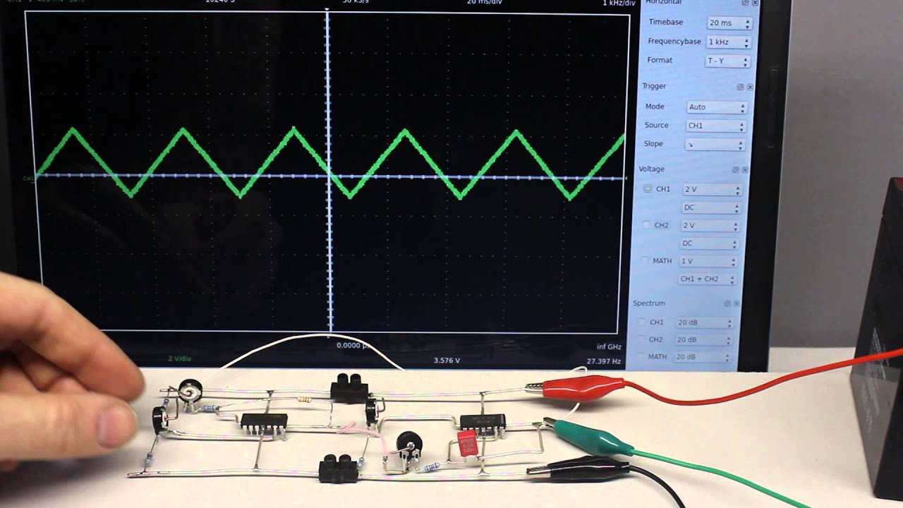 Function Generator Integrator Differentiator Youtube Simple Circuit Electronic Circuits And Diagram