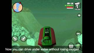 GTA San Andreas how to use a vortex as a submarine
