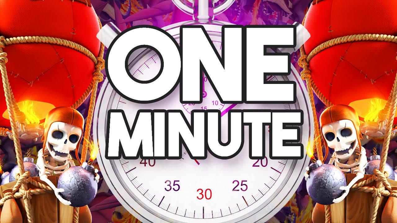1 mintue timer