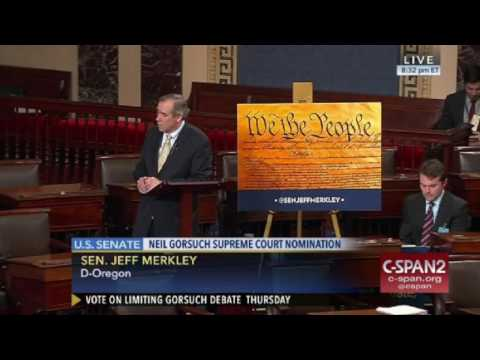 """Sen. Merkley: """"I plan to keep speaking for quite a while longer, as long as I'm able."""" (C-SPAN)"""
