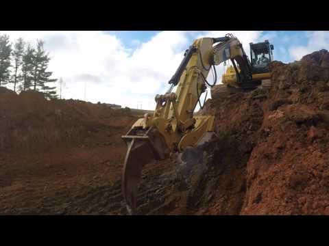 Cat 320DL at My real job! D.L.Harrell Construction.