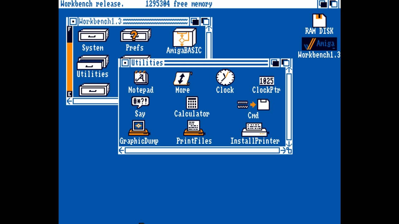 Amiga Workbench 1 3 singing(saying) the song Still Alive from Portal