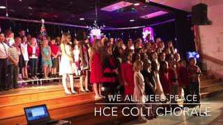 """Colt Chorale performs """"We All Need Peace"""""""