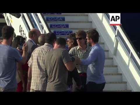 Rolling Stones arrive in Havana
